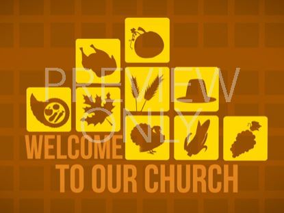 THANKSGIVING ICON WELCOME STILL