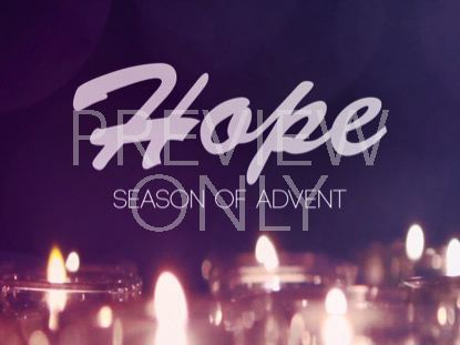 ADVENT CANDLES HOPE STILL