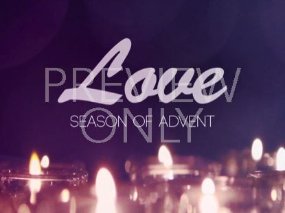 ADVENT CANDLES LOVE STILL