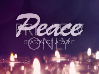 ADVENT CANDLES PEACE STILL
