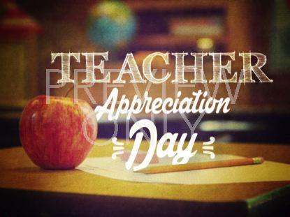 APPLE A DAY TEACHER STILL