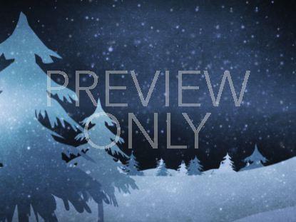 CHRISTMAS FOREST BLUE 5 STILL