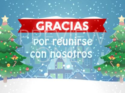 CHRISTMAS VILLAGE CLOSING STILL - SPANISH