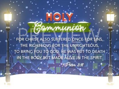 CHRISTMAS VILLAGE COMMUNION STILL