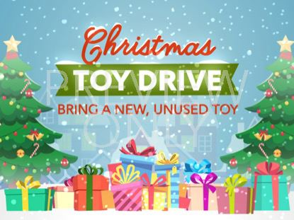 CHRISTMAS VILLAGE TOY DRIVE STILL