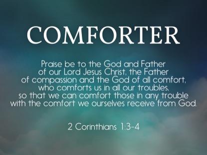 COMFORTING SPIRIT CORINTHIANS STILL
