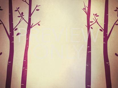 FALL BIRCH TREES PURPLE 2 STILL