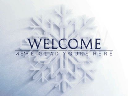 FROSTED SNOWFLAKE WELCOME STILL