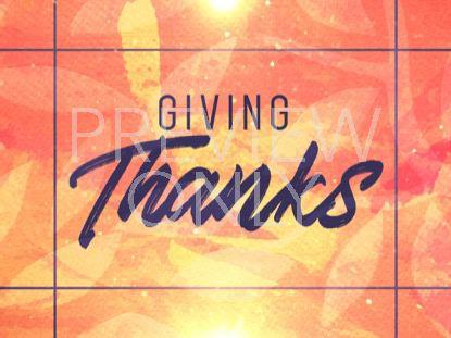SEASONAL DISPLAY GIVING THANKS STILL