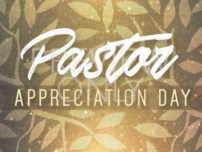 SEASONAL DISPLAY PASTOR APPRECIATION STILL