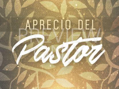 SEASONAL DISPLAY PASTOR APPRECIATION STILL - SPANISH