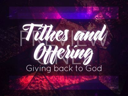 STAINED GLASS TITHING STILL