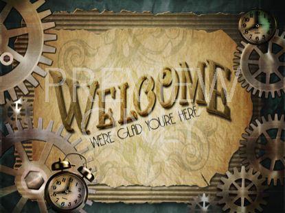 STEAMPUNK WELCOME STILL