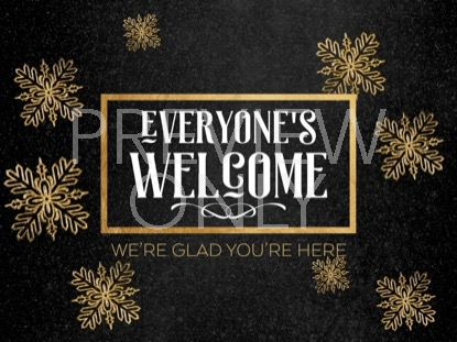 TRENDY CHRISTMAS WELCOME STILL