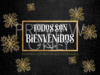 TRENDY CHRISTMAS WELCOME STILL SPANISH
