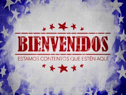 USA HOLIDAY GRUNGE WELCOME STILL SPANISH