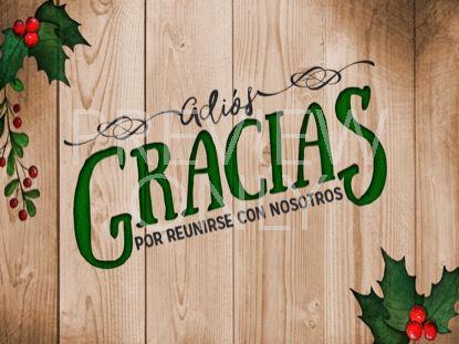WOODEN CHRISTMAS CLOSING STILL SPANISH