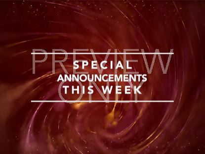 STRING SPECIAL ANNOUNCEMENTS STILL