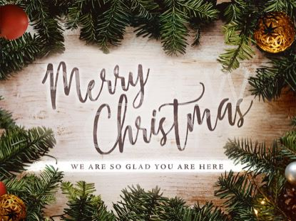 CHRISTMAS WREATH MERRY CHRISTMAS