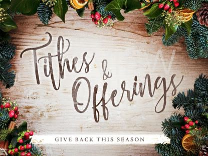 CHRISTMAS WREATH TITHES