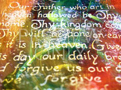 LORD'S PRAYER FLOURISH 3