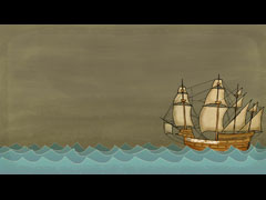 THANKSGIVING ILLUSTRATION - MAYFLOWER