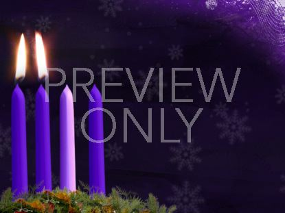 ADVENT CANDLE STILL WEEK 2