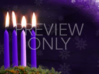 ADVENT CANDLE STILL WEEK 4