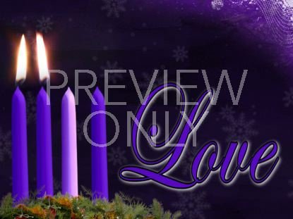 ADVENT LOVE CANDLE STILL