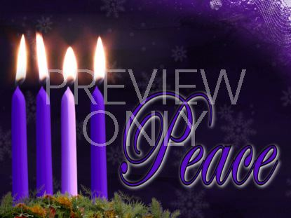 ADVENT PEACE CANDLE STILL