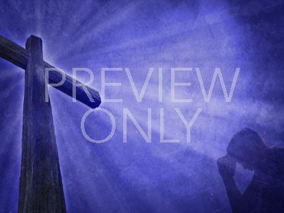 PRAYING MAN AND THE CROSS STILL 2