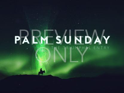 HOLY WEEK GLOW PALM SUNDAY STILL