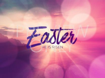 RESURRECTION WORDS EASTER STILL
