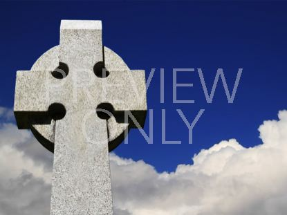 CELTIC CROSS AND CLOUDS