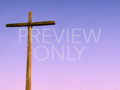 OLD RUGGED CROSS AND PURPLE SKY