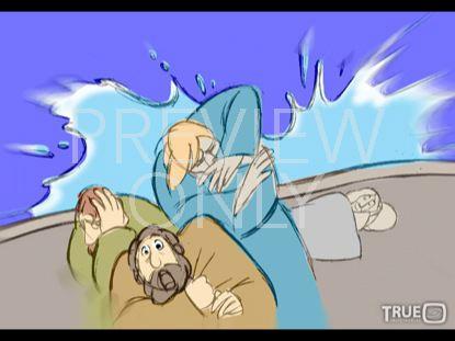 JESUS STILLS THE STORM STILLS