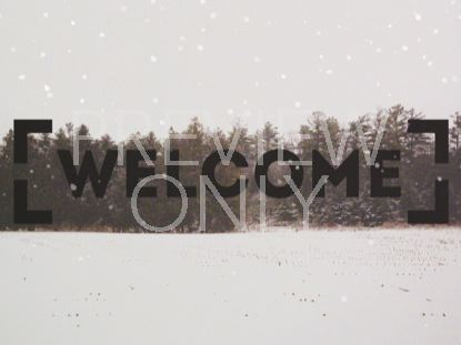 WINTER FOREST FRAME WELCOME 1