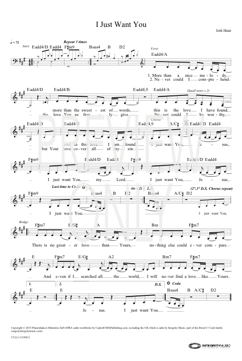 i just want you lead sheet lyrics amp chords
