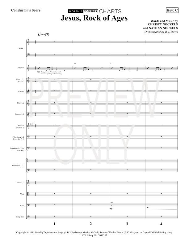 Jesus, Rock Of Ages Lead Sheet, Lyrics, u0026 Chords : Christy Nockels : Christian Song Tracks