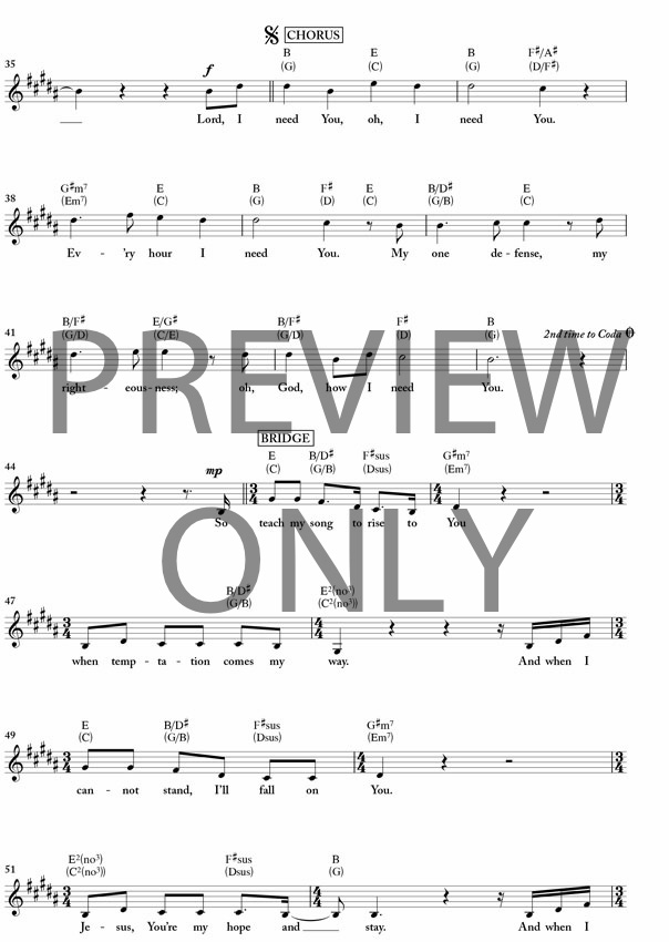 lord i need you chords pdf