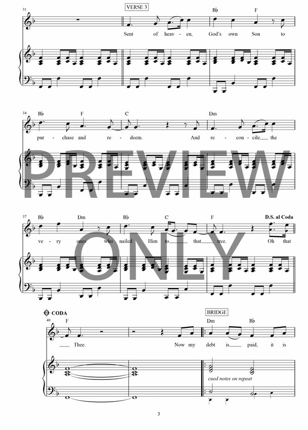 Man of sorrows lead sheet lyrics chords hillsong for Vocal house music charts