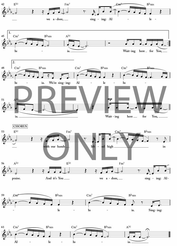 Waiting here for you lead sheet lyrics chords for Vocal house music charts