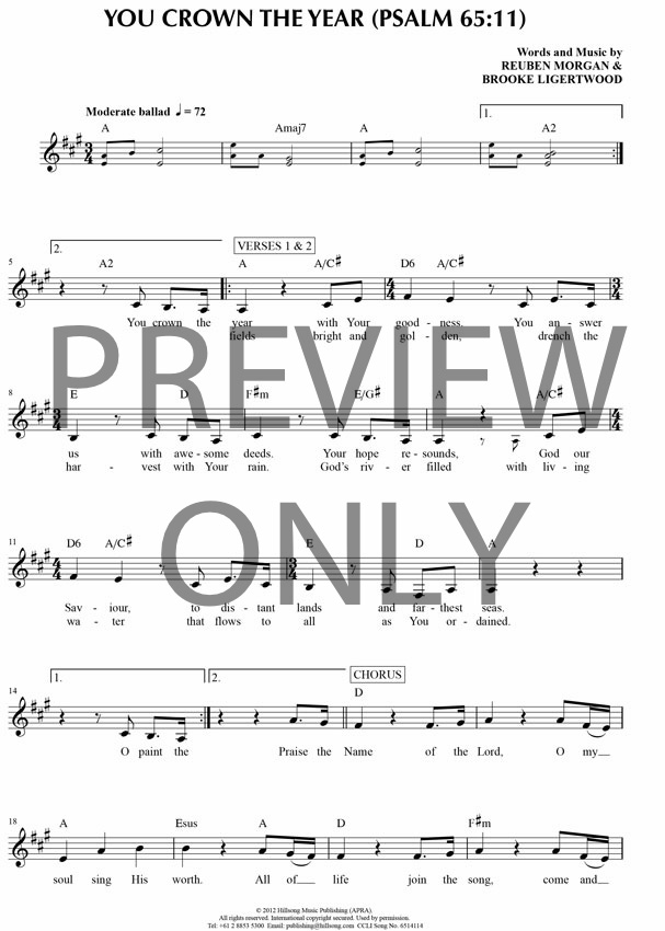 Hillsong Piano Sheet Music