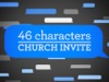 46 Characters Church Invite | Motion Worship | Preaching Today Media