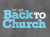 Bold Impressions Back To Church Still | Playback Media | Preaching Today Media