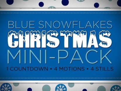 BLUE SNOW FLAKES MINI-PACK