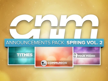 ANNOUNCEMENTS PACK: SPRING VOL. 2