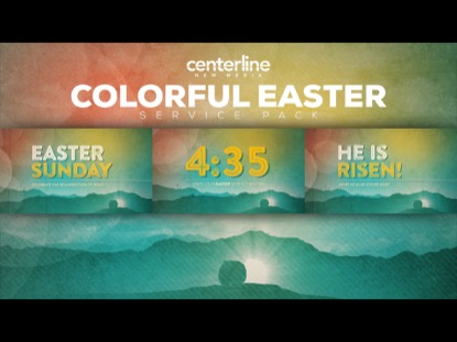 COLORFUL EASTER SERVICE PACK