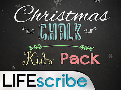 CHRISTMAS CHALK KIDS PACK