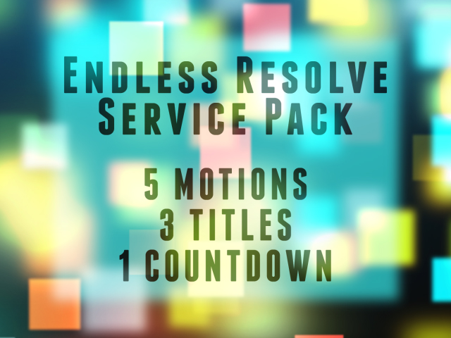 ENDLESS RESOLVE SERVICE PACK